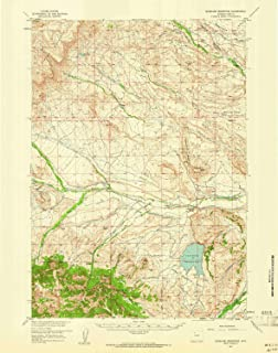 YellowMaps Sunshine Reservoir WY topo map, 1:62500 Scale, 15 X 15 Minute, Historical, 1957, Updated 1961, 20.8 x 16.4 in