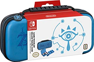 Nintendo Switch Game Traveler Deluxe Travel Case- Zelda Breath of the Wild - Sheikah Eye - Blue (Discontinued by Manufacturer)