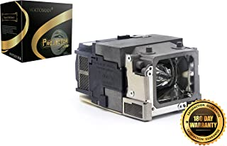 Watoman ELPLP65 Original Replacement Projector Lamp with Housing for EPSON EB-1750 EB-1751 EB-1760W EB-1761W EB-1770W EB-1771W EB-1775W EB-1776W H372A PowerLite 1750 PowerLite 1751 PowerLite 1760W