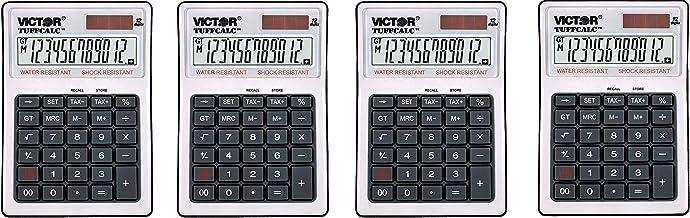 "$79 » Victor 99901 TuffCalc Calculator, White, 1.8"" x 4.6"" x 6.5"" - Fоur Расk"