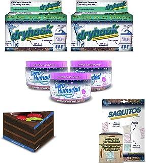 Cero Humedad Paquete 2 Incluye 2 Cero Humedad Dry Hook de 450 grs. + 3 Cero Humedad Aroma de 400 grs + 1 Cero Humedad Saqu...