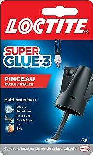 Loctite Super Glue-3 Pinceau, colle forte facile à utiliser avec son pinceau applicateur, colle liquide à séchage instanta...