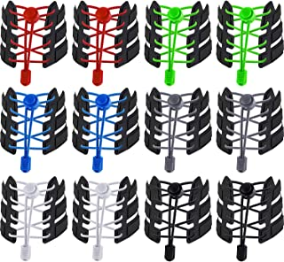 Willbond 12 Pairs Elastic Shoe Laces No Tie Elastic Shoelaces with Lock Device Adjustable Tieless Rubber Shoe Laces String...