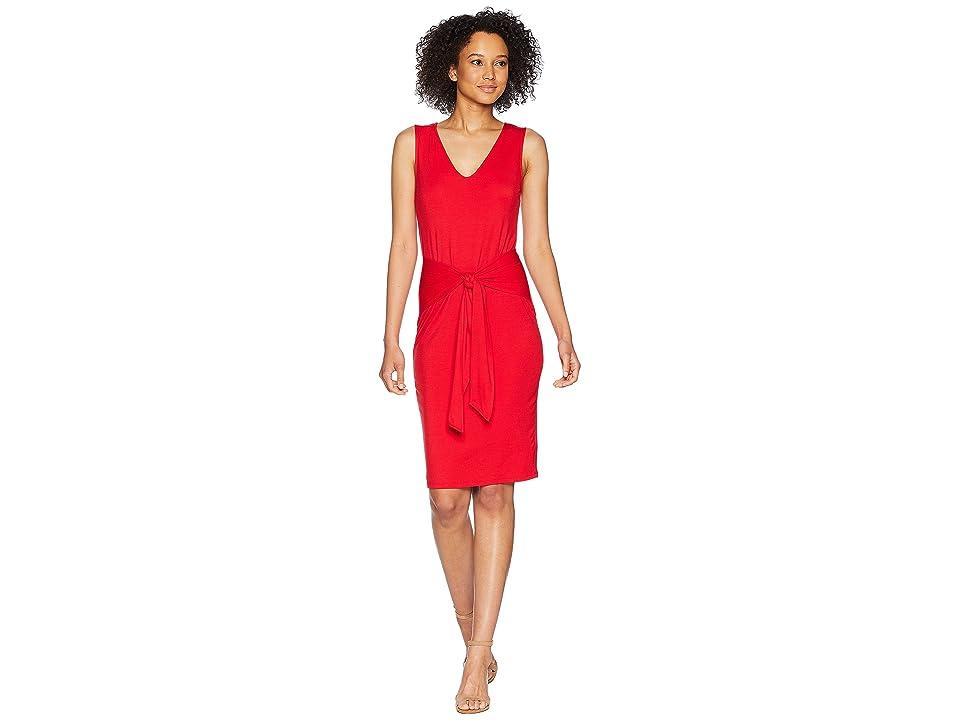 LAUREN Ralph Lauren Tie-Front Sleeveless Dress (Lipstick Red) Women