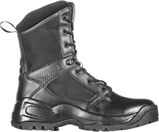 """5.11 Women's ATAC 2.0 8"""" Tactical Side Zip Military Combat Boot, Style 12403, Black"""