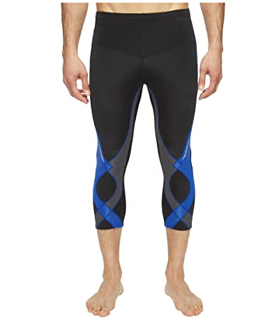 CW-X 3/4 Stabilyx Tights (Black/Grey/Blue) Men