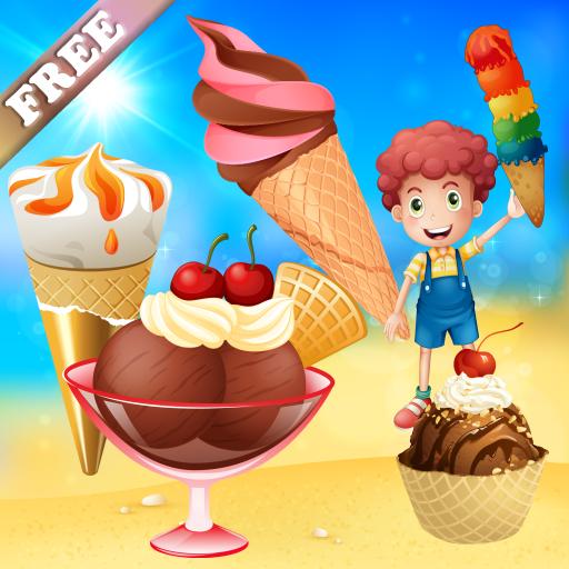Glaces ! jeu pour les enfants : découvrir le monde des crèmes glacées ! jeux pour les tout petits...
