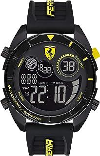 Scuderia Ferrari Men's Black Dial Black Silicone Watch - 830744