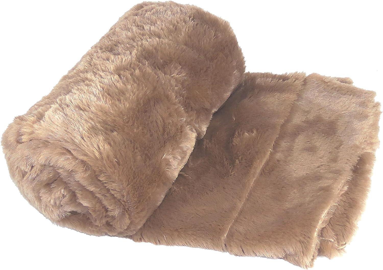 BOON Jumbo Double Sided Faux Fur Throw Blanket, Amphora, 70  x 80