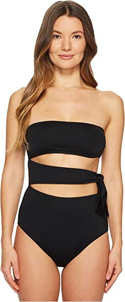 Proenza Schouler - Solids One-Piece Bandeau w/ Side Tie