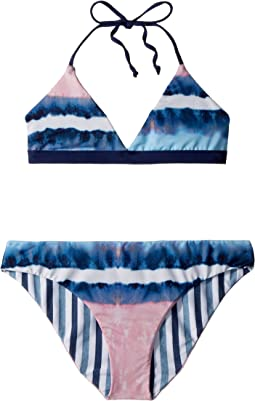 Splendid Littles - Tie-Dye Stripe Reversible Bralette & Reversible Retro Pants (Big Kid)