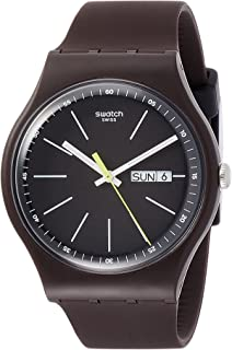 Swatch Men's Analogue Quartz Watch with Silicone Strap SUOC704