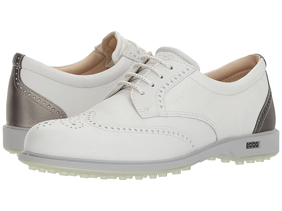 ECCO Golf Classic Golf Hybrid (White/Silver Metallic) Women