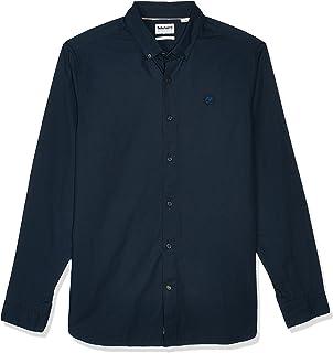 قميص سادة باكمام طويلة وتصميم انيق ايلا ريفر للرجال، قميص بقصة عادية مصنوع من قماش اوكسفورد من تيمبرلاند