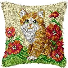 Lås krok handgjord katt tecknad mönster mattor kudde DIY hem textil matta matta hakan korsstygn sätta barn vuxna hantverk ...