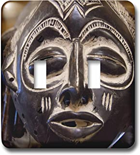 3dRose lsp_69536_2 South Africa, Durban, Zulu tribe mask Double Toggle Switch