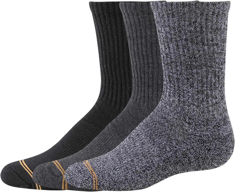 Gold Toe boys Bomber Crew Socks, 3 Pairs