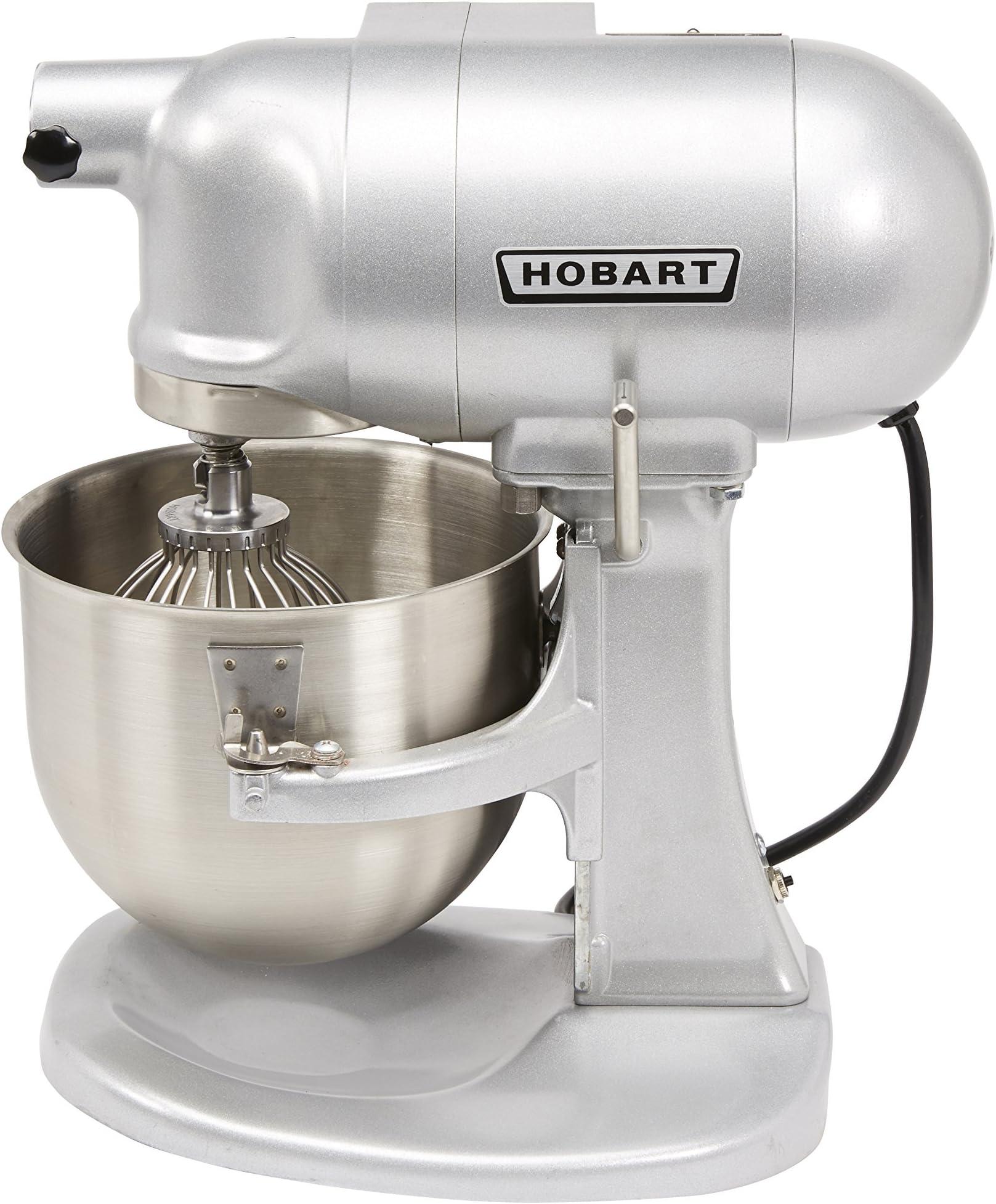 Hobart N50-60 5-Quart Commercial Countertop Mixer, Gear-Driven, 3-Speed, Gray