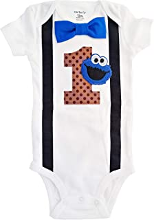 Baby Boys 1st Birthday Outfit Monster Bodysuit