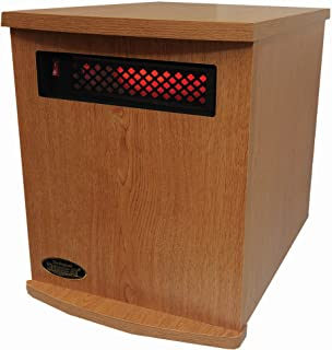 SunHeat USA Infrared Heater 1500 Watt Oak Finish
