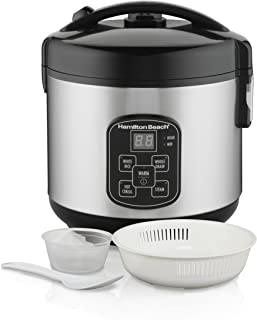 Hamilton Beach Digital Programmable Rice Cooker & Food Steamer, 8 Cups Cooked (4..