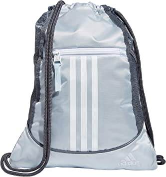 adidas Alliance 2 Sackpack, Halo Blue/Jersey Onix/White/Onix, One Size