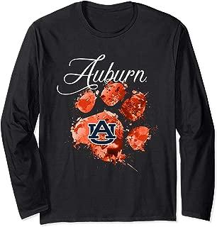 Auburn Tigers Color Drop Paw Long Sleeve T-Shirt - Apparel