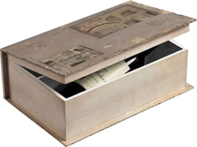 STERLING 128-1017 English Garden Wine Holder Book Box, 14 by 6-Inch