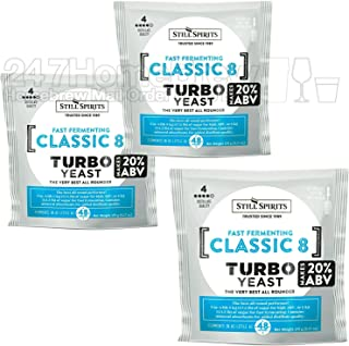 3x Still Spirits Classic 8 Urea Turbo Yeast (US/UK/CAN Only) 20% ABV