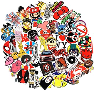 8 Series Stickers 100 pcs/Pack Stickers Variety Vinyl Car Sticker Motorcycle Bicycle Luggage Decal Graffiti Patches Skateboard Stickers for Laptop Stickers for Kid and Adult (Series F)