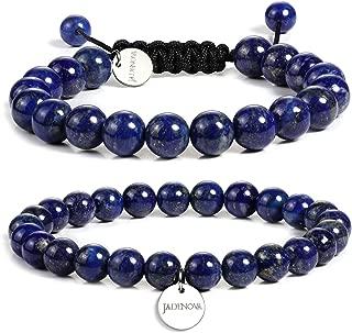 Gemstone Bracelet Chakra Bead Bracelet Energy Healing Crystal Yoga Beaded Natural Stone Bead Bracelet for Men Women Stretch Bracelet (2pcs, 6mm, 8mm, 10mm)