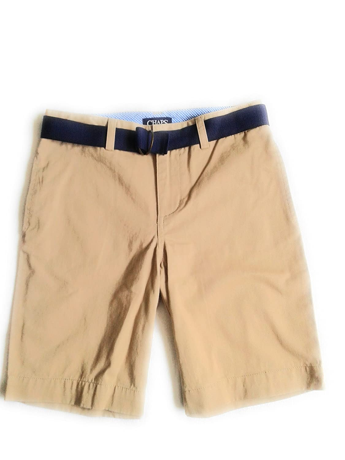 Chaps Boys Shorts withベルトカーキ綿100?%