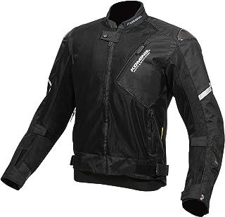 コミネ(KOMINE) バイク カーボンプロテクト メッシュ ジャケット アウター プロテクター 通気性 Black L JK-137 07-137