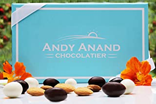 Andy Anand Premium Chocolate Coated Roasted Almond, A Medley of Milk, White and Dark Chocolate Gift Boxed Christmas Corporate Gifts with Greeting Card Valentines Birthday Anniversary Get-Well 1lbs