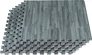 New Forest Floor 3/8 Inch Thick Printed Foam Tiles, Premium Wood Grain Interlocking Foam..