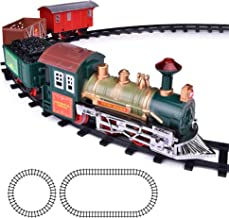 ArtCreativity Deluxe Train Set for Kids - Battery-Operated Toy with 4 Cars and Tracks - Durable Plastic - Cute Christmas Holiday Train for Under The Tree, Great Gift Idea for Boys, Girls, Toddlers
