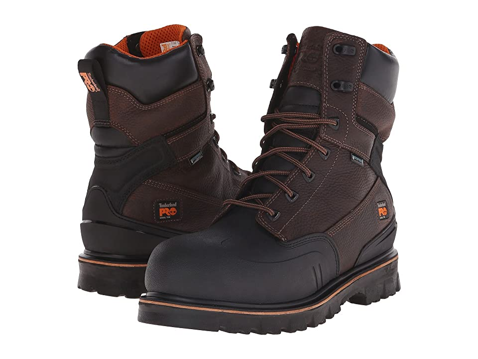 Timberland PRO 8 Rigmaster XT Steel Safety Toe Waterproof (Brown Tumbled Leather) Men