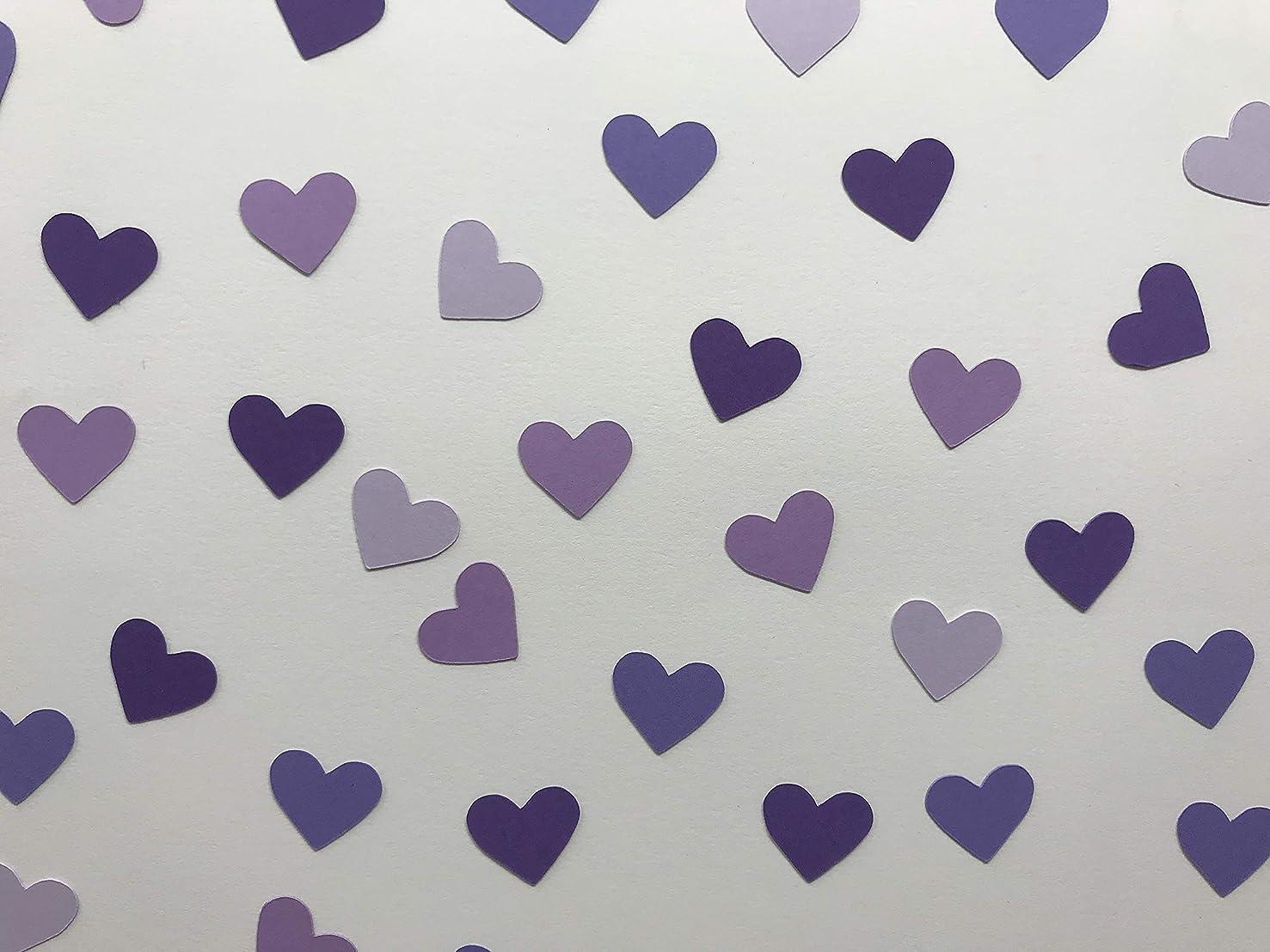 Shades of Purple Heart Confetti - Purple Wedding Decorations - Purple Bridal Shower Decorations - Heart Decorations - Purple Baby Shower - 400 pieces