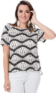 Vero Moda Zita Zip Short Sleeve Top For Women - S, Moonbeam