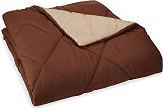 AmazonBasics Reversible Microfiber Comforter - Full/Queen, Chocolate