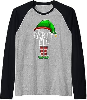The Party Elf Group Matching Family Christmas Gifts Holiday Raglan Baseball Tee
