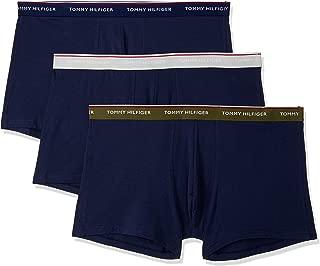 TOMMY HILFIGER Men's 3 Pack Trunks, Olive Night/Peacoat/Glacier Grey
