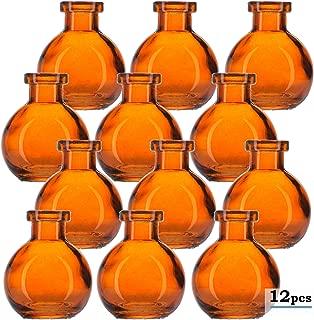 Glassnow C6545G08-N Ball Glass Bottle No Cork, 3.4oz, 12 Pieces, Orange, 100 ml,
