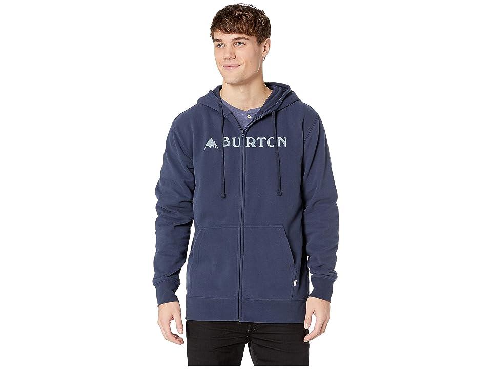 Burton Horizontal Mountain Full Zip Hoodie (Mood Indigo) Men