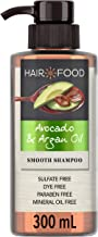 Sulfate Free Shampoo, Dye Free Smoothing Treatment, Argan Oil and Avocado, Hair Food, 300ml