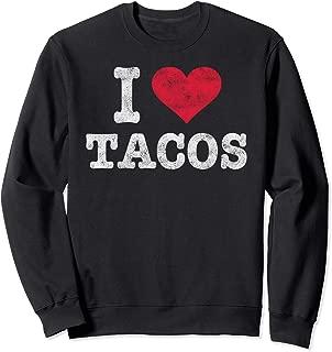 Trendy Vintage I Love Tacos Gift Sweatshirt