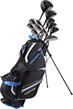 19 Piece Men's Complete Golf Club Package Set with Titanium Driver, 3 Fairway Wood, 3-4-5 Hybrids, 6-SW Irons, Putter, Stand Bag, 5 H/C's - Choose Options!