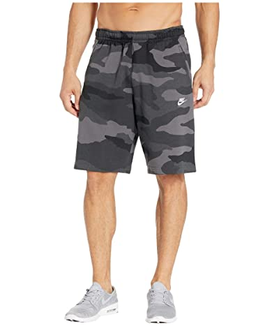 Nike NSW Club Shorts Camouflage (Dark Grey/Dark Grey/Summit White) Men