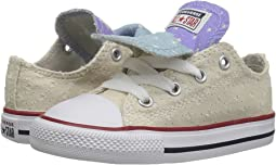 Converse Kids Chuck Taylor® All Star® Double Tongue Star Perf Canvas Ox (Infant/Toddler)