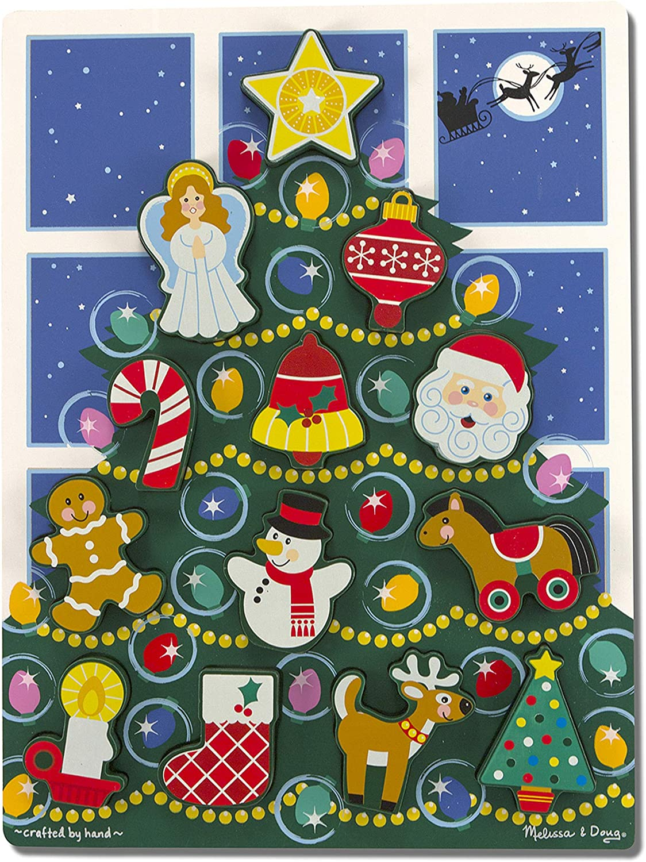 Melissa Doug Holiday Christmas Tree 13 Wooden p Sale price Chunky Superlatite Puzzle